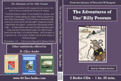 The Adventures of Unc' Billy Possum Children's Audiobook CD Set - St. Clare Audio